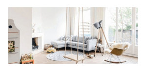 como decorar tu habitación con un columpio
