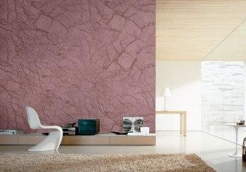sala con pinturas texturizadas