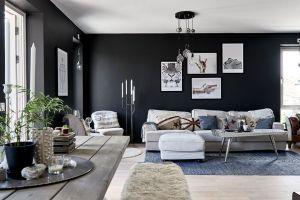 sala color negro