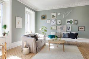 sala de estar color verde casi gris
