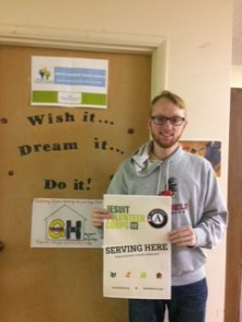 JV AmeriCorps member Connor Kelley at his agency