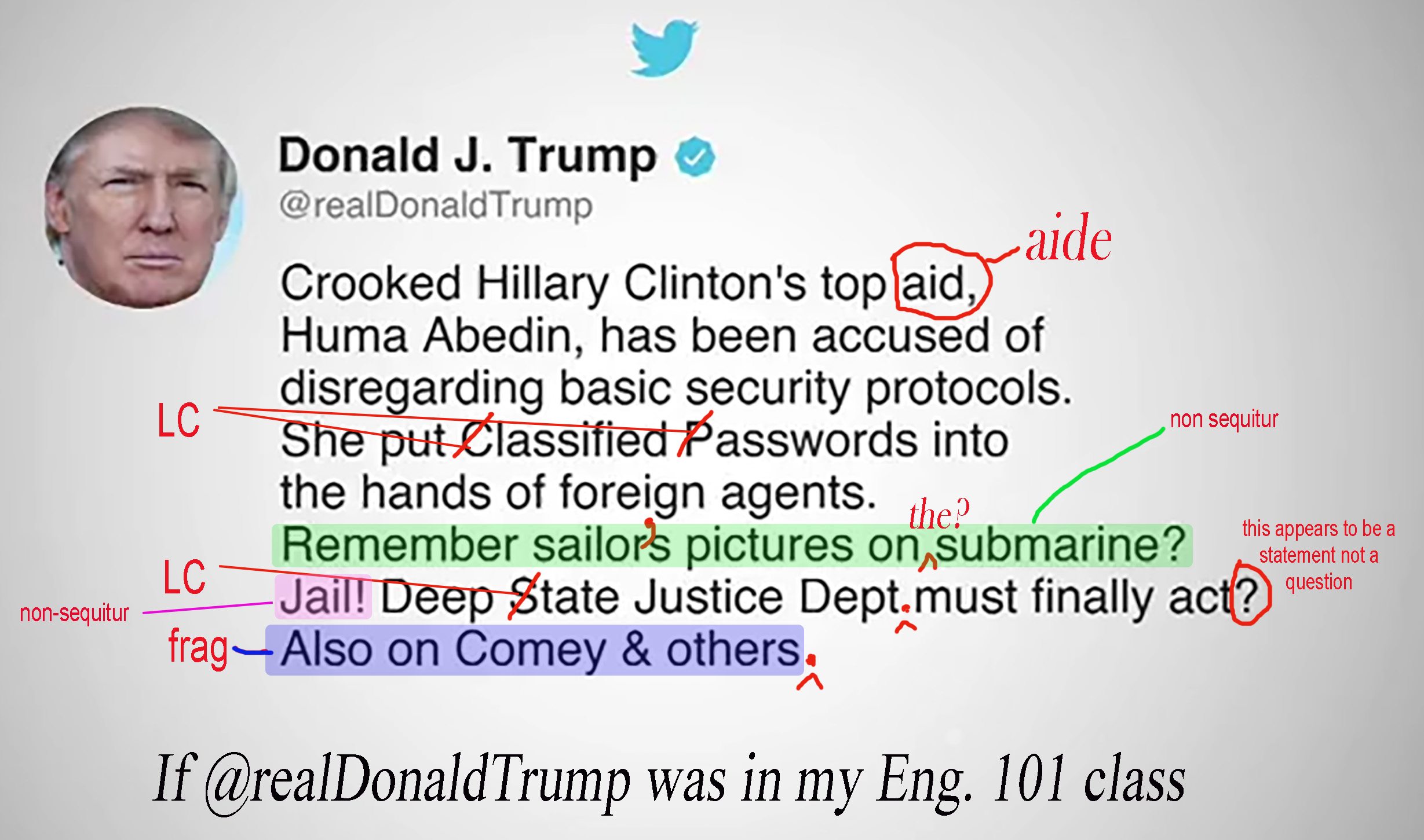 If Donnie was in my Eng 101 class  Words in Action The Blog