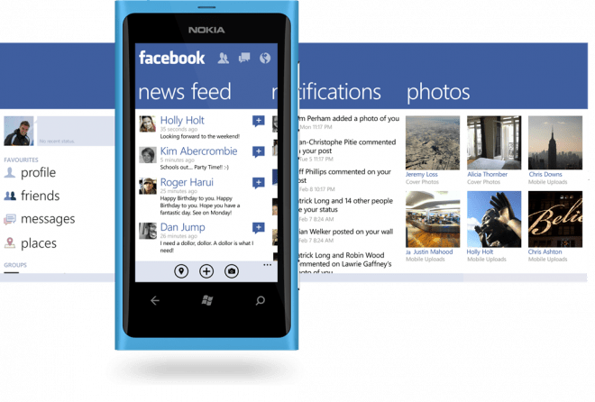 Facebook для Windows Phone 7