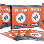 Be Heard – Done-For-You PLR Package Review By Aurelius Tjin – The Step-By-Step System To Building An Audience, Getting Attention And Creating Content That Gets Shared. Comes Complete With Private Label Rights!