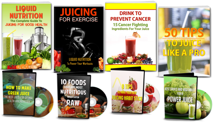 Juicing & Raw Food For Health eBooks/Videos 250 Pcs. PLR Pack Review