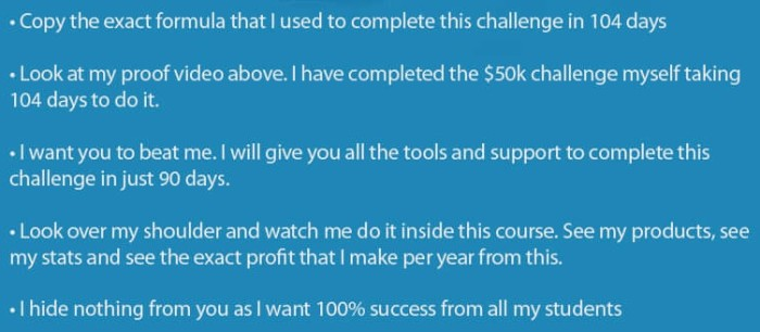 "The ""$50k in 90 Days Challenge"" Review"