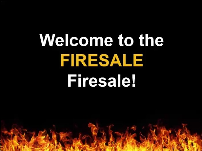 Firesale Firesale Package Review