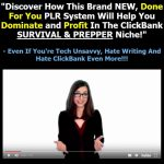 ClickBank Survival/Prepper Domination By Arun Chandran Review – Revealed How This Brand NEW, Done For You PLR System Will Help You Dominate and Profit In The ClickBank SURVIVAL & PREPPER Niche!