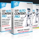 WP Auto Content PRO By Ankur Shukla Review – OTO #1 Of WP Auto Content. 10X Your Site's Income by Adding Unlimited Products from the Top 10 Ecom Sites Amazon, Ebay, WalMart, BestBuy + Unlimited Campaigns from 18 Extra Sources…