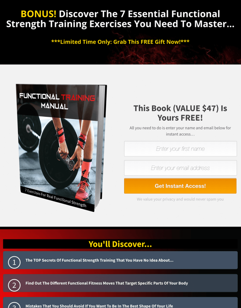 Functional Fitness PLR By Yu Shaun Review
