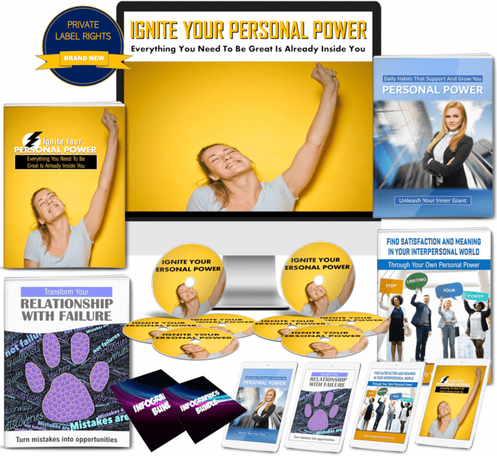 Ignite Your Personal Power 275+ Piece PLR Pack By JR Lang Review