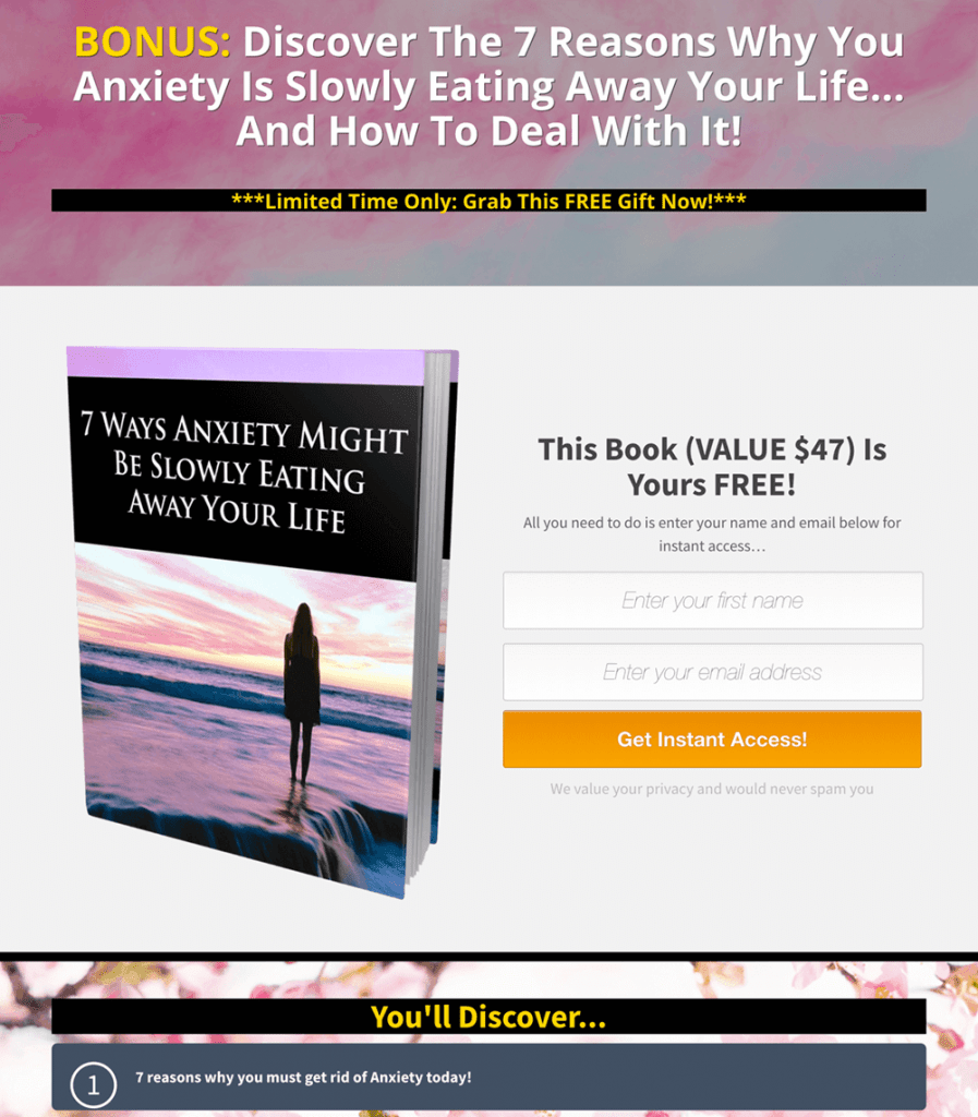 Anti-Anxiety Formula PLR By Yu Shaun Review