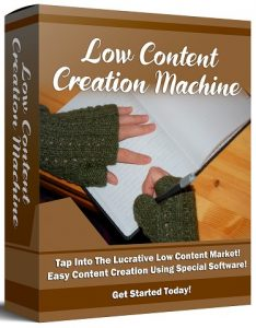 Low Content Creation Machine By Ken Bluttman Review