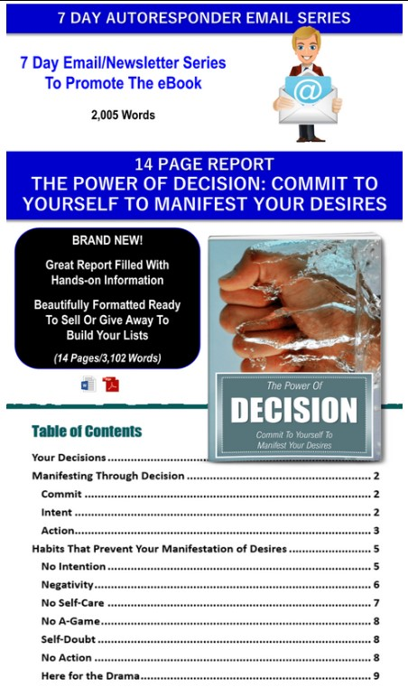 Manifestation/Law Of Attraction: Making Your Desires Reality PLR Pack By JR Lang Review
