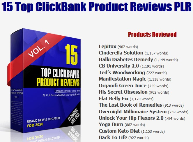 Top ClickBank Product Reviews 2020 PLR By Arun Chandran Review