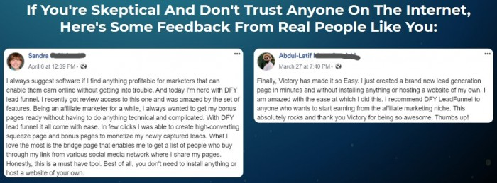 DFY LeadFunnel By Victory Akpos Review