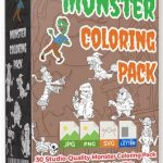 Monster Coloring Pack with Dot-to-Dot By Pixelcrafter Review – Publish Your Own Children's Coloring and Dot-to-Dot Books in a PROVEN HOT NICHE with Studio-Quality Pack