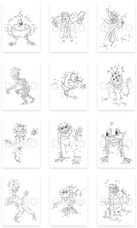 Monster Coloring Pack with Dot-to-Dot By Pixelcrafter Review