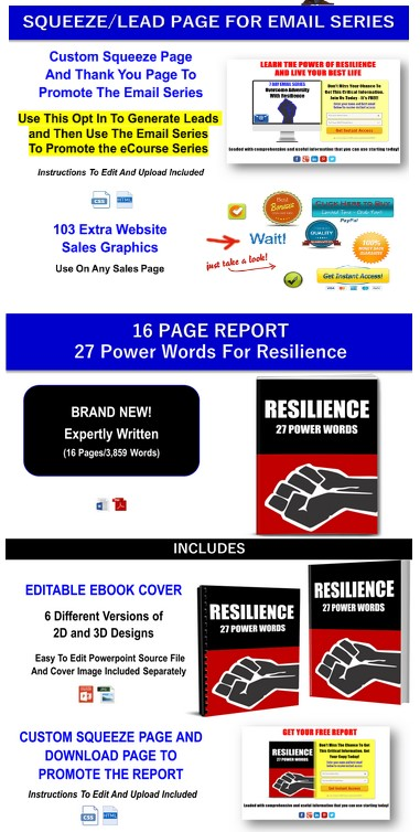 10 Part eCourse: Facing Adversity: Build Your Resilience PLR By JR Lang Review