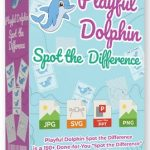 "Playful Dolphin Spot The Difference By Pixelcrafter Review – Publish Your Own ""Spot the Difference"" Activity Book and Cash in on This Niche… EVEN IF You Can't Draw With These 150 DFY Spot-the-Difference Children Activity Pages"