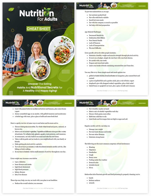 Nutrition For Adults PLR By Firelaunchers Review