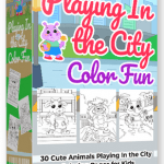 Playing In the City Color Fun By Pixelcrafter Review – Get 30 Playing In the City Coloring Pages… You can use to Publish Your Own Children's Coloring Books