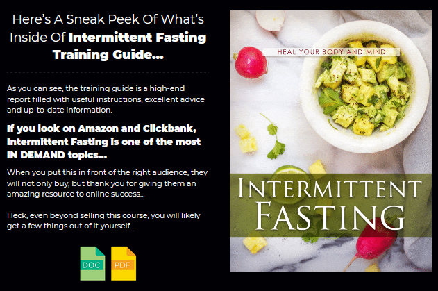 Intermittent Fasting PLR By Sajan Elanthoor & Justin Opay Review