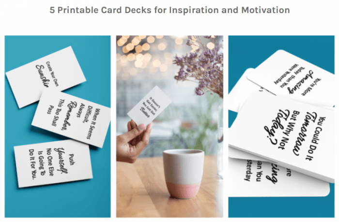 Motivational and Inspirational Card Deck Pack PLR By Happydogisland Review