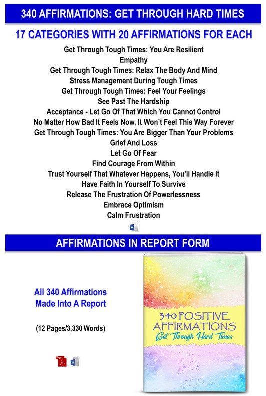 Get Through Hard Times: 340 Affirmations + Guided Meditations Giant PLR By JR Lang Review