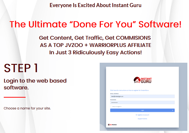 Instant Guru Pro Authority Site Software For Affiliate Marketing
