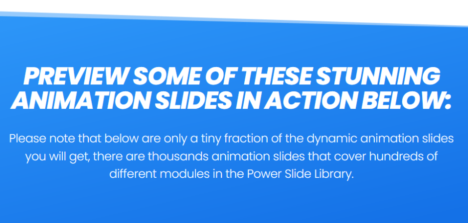 Power Slide - The Ultimate Multipurpose Digital Animation Slide Cloud Library!