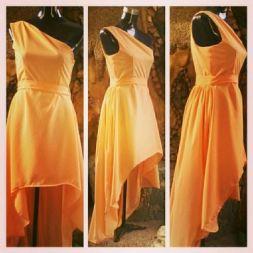 Venus-cut, mullet dress for my friend, Lora