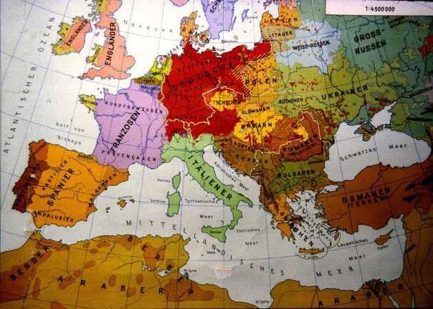 Ethnic Map Europe 1914