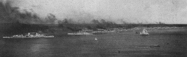 The High Seas Fleet at Kiel Harbour
