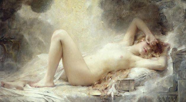 Golden Rain by Leon Francois Comerre