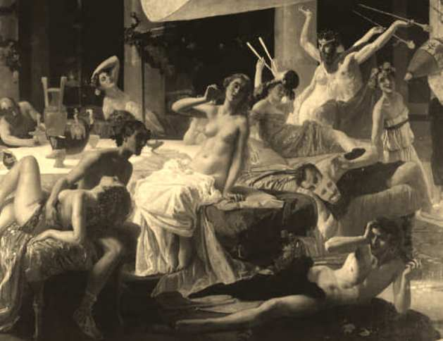 The Orgies of Messalina by Federico Faruffini