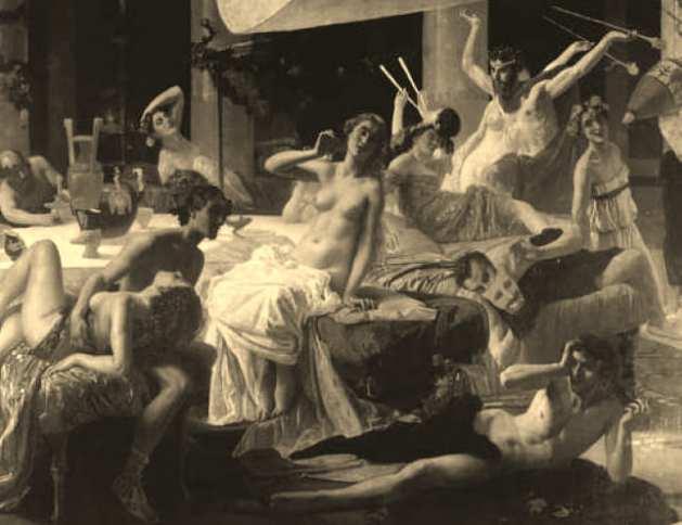 The Orgies of Messalina by Federico Faruffini
