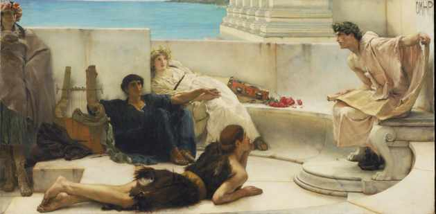 A reading by Homer - Sir Lawrence Alma Tadema