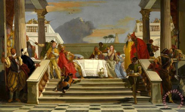 Giovanni Battista Tiepolo - The Banquet of Cleopatra And Antony