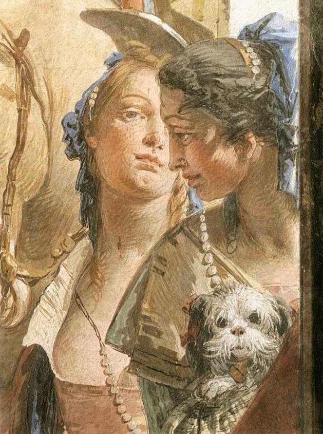 Giovanni Battista Tiepolo_-The Entourage of Cleopatra (detail)