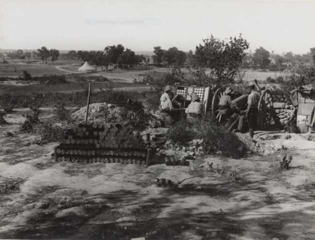 French 75 mm gun at Gallipoli