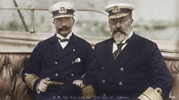 Wilhelm II and King Edward VII