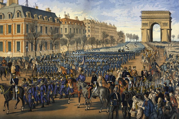 Parade through Paris, Match 1, 1871