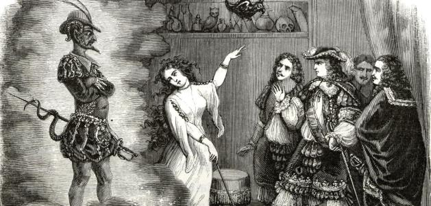 Philip of Orleans. the brother of Louis XIV, meets the devil himself during a party at La Voisin, Catherine Deshayes