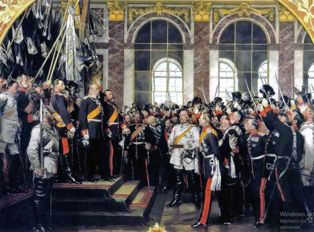 Anton von Werner's famous painting - Proclamation of the Emperor, January 18, 1871