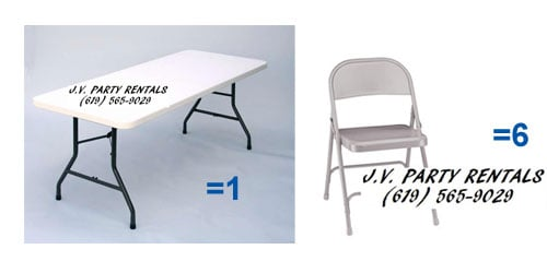 table chair rentals 2 covers for sale in pietermaritzburg rectangular 5 ft foldable with 6 chairs jv party