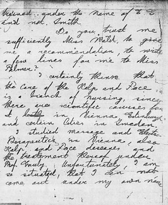 Letter from Emma Goldman to Lillian Wald, November 12