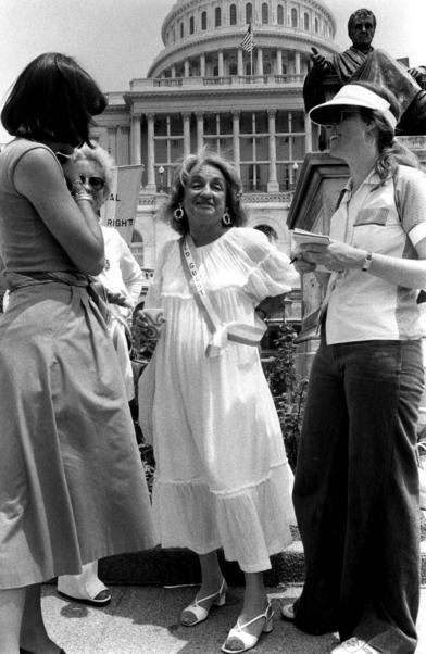 Betty Friedan at ERA march in Washington, DC
