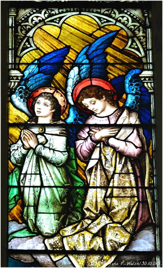 ASSUMPTION WINDOW (central panel/detail), 1902, St. Michael Church, Chicago. Franz Mayer & Company, Munich, Germany- Oct 30, 2015.