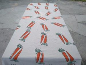 Table Cover-Carrot Pattern